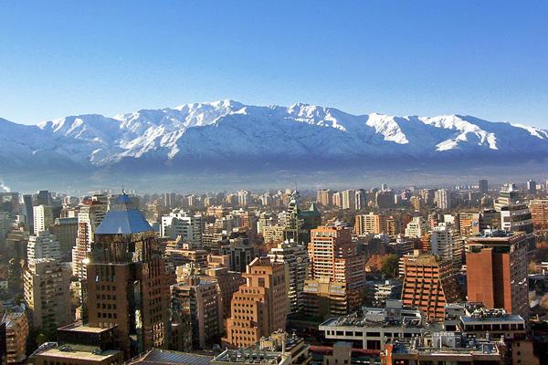 Una vista de Santiago de Chile