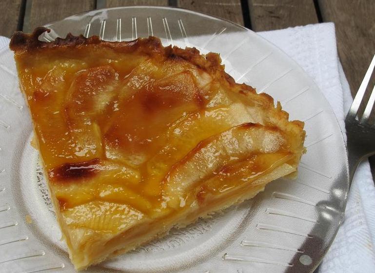 tarta de manzanas rojas