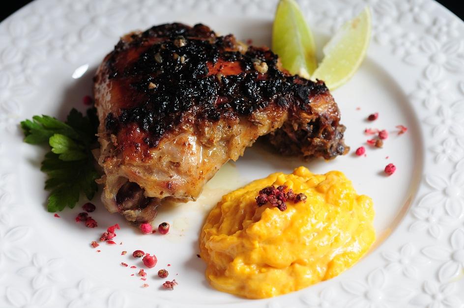 Pollo al horno marinado y glaseado recetas y cocina for Cocinar a 40 grados