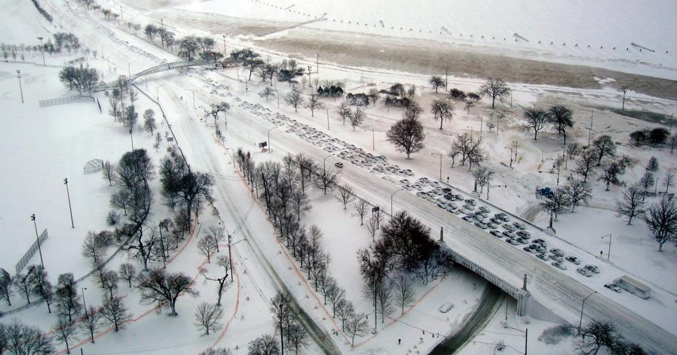 Chicago bajo nieve