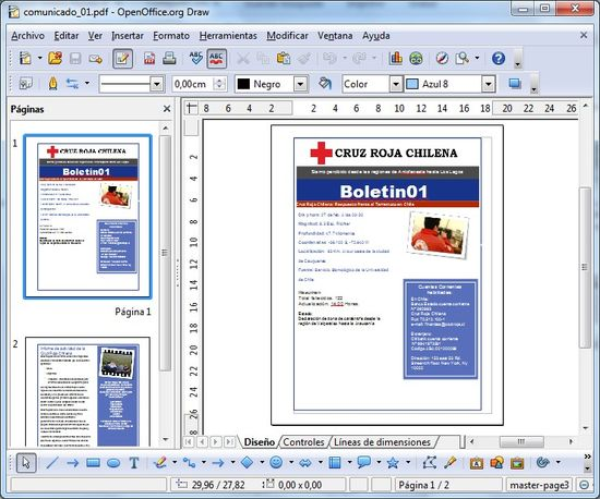 OpenOffice Draw + Sun PDF Import Extension