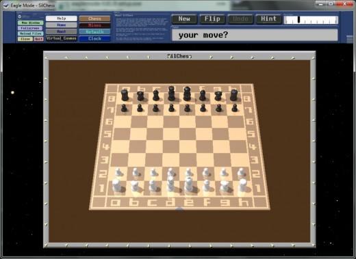 Ajedrez, uno de los tres juegos de EagleMode