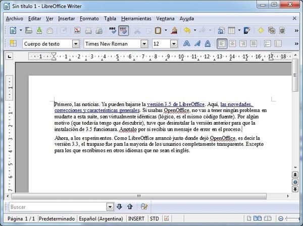 Libreoffice 3 5 Y Un Truco Para Escribir Mejor Blogs Lanacion Com