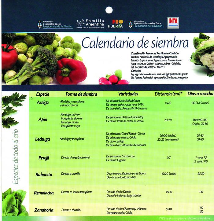 Calendario de siembra huerta blogs for Que se planta en septiembre