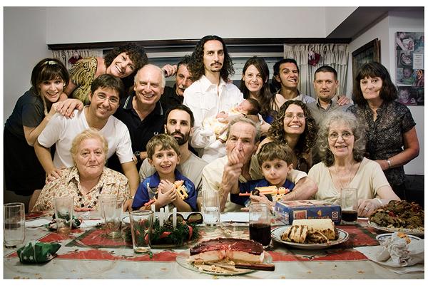familia argentina en navidad
