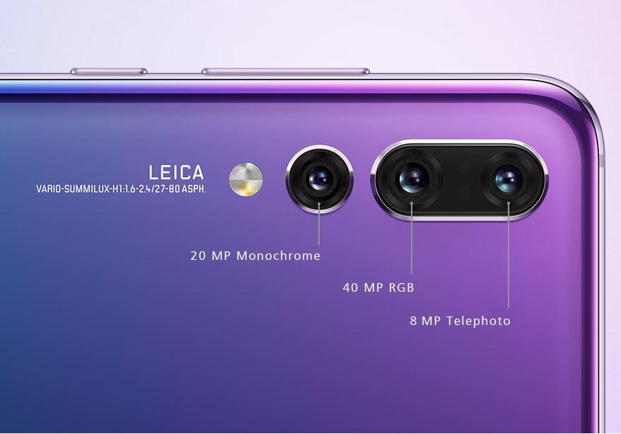 Las cámaras del Huawei P20 Pro