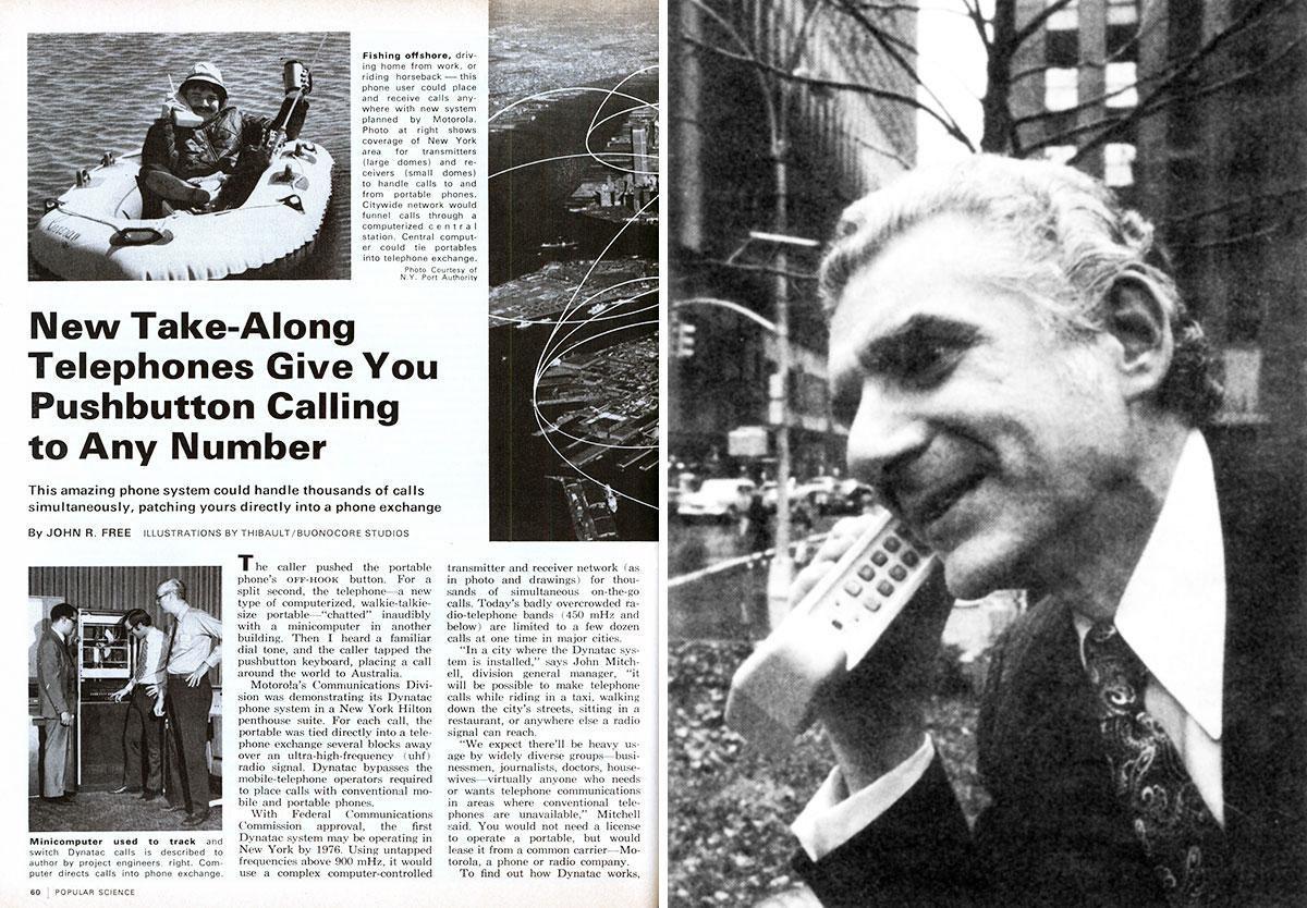 La noticia de la primera llamada hace 45 años, con Martin Cooper en primer plano